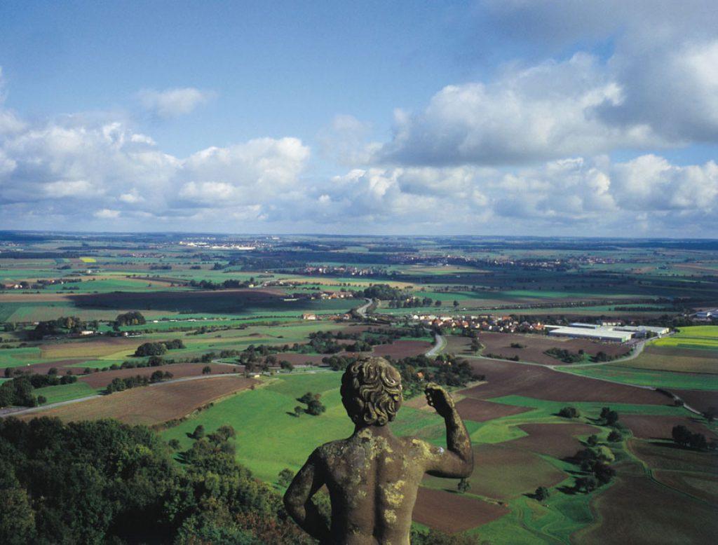 Blick vom Berg über die Region Hohenlohe