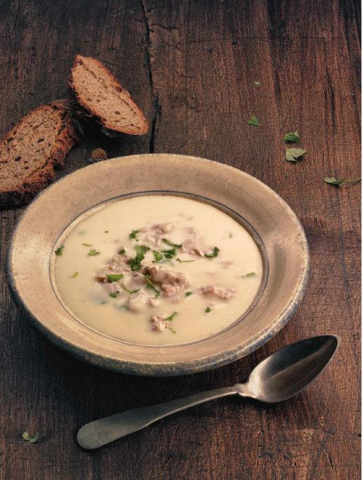 Gemüsesuppe mit Hällischen Fleischstückchen