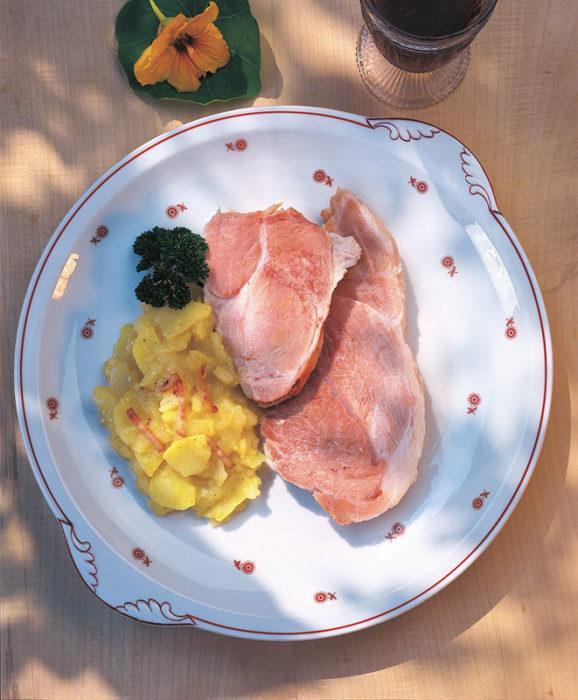 Badisches Schäufele mit Kartoffelsalat