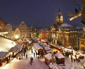 Weihnachtszauber auf dem Haller Marktplatz.