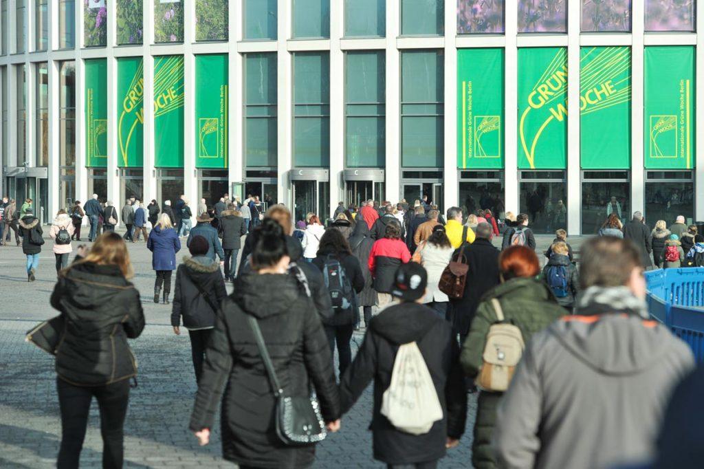 Internationale Grüne Woche in Berlin ist Publikumsmagnet.