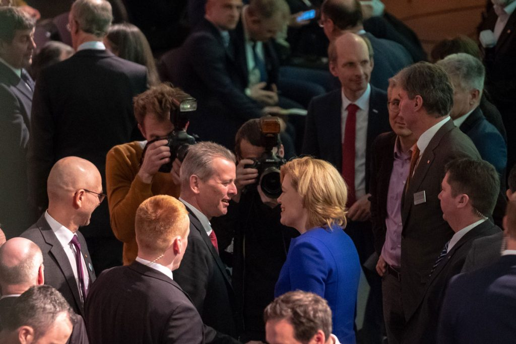 30 Jahre Biofach: Bundeslandwirtschaftsministerin Julia Klöckner bei der Eröffnungsfeier in Nürnberg.