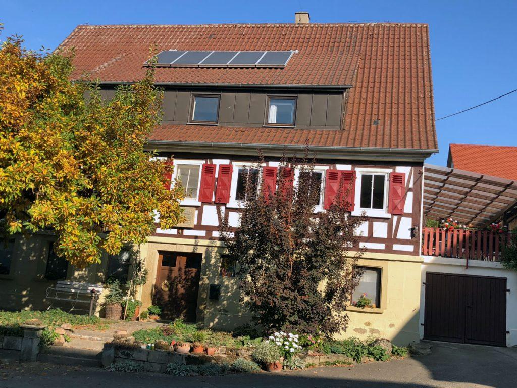 Das schmucke Anwesen der Häußermanns in Untermaßholderbach bei Öhringen