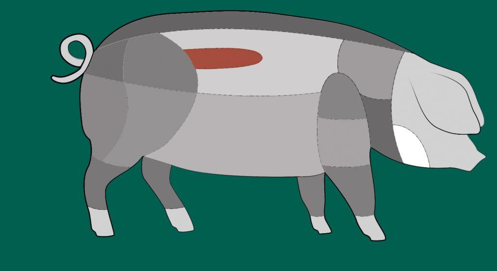 Hier sitzt das Filet des Schwäbisch-Hällischen Schweins