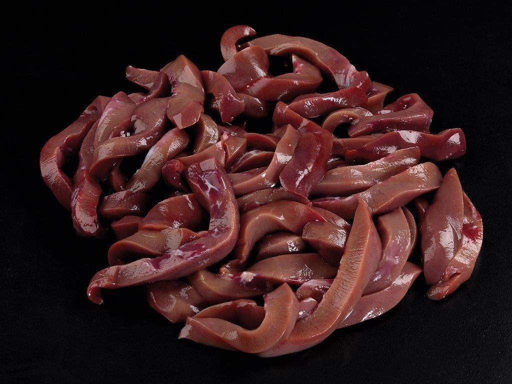 Geschnetzelte Nieren vom Schwäbisch-Hällischen Schwein.